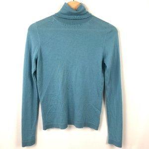 Neiman Marcus 100% Cashmere Turtleneck Sweater Top